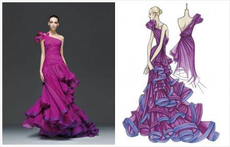 Подборка эскизов одежды известных дизайнеров