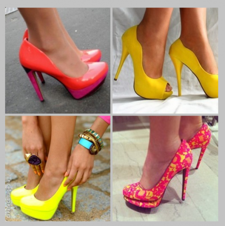 Туфли ярких цветов - галерея фотографий